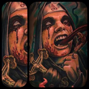 Something for the Antichrist in us tattoo
