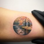 Swan Lake Landscape Tattoo