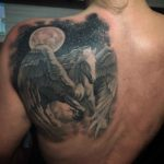 Shoulder Blade Tattoo Pegasus