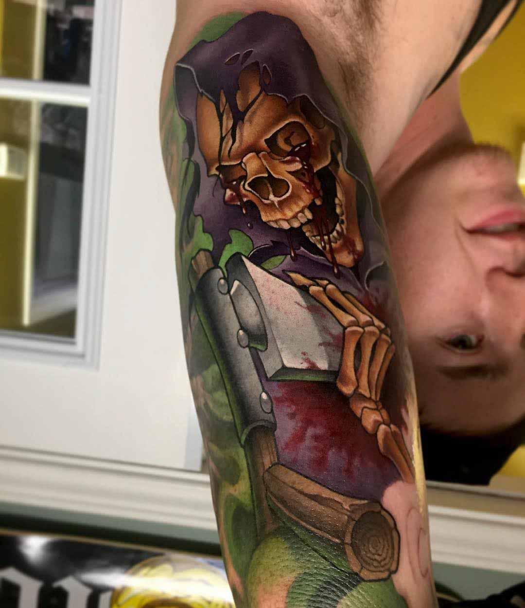 new school death tattoo