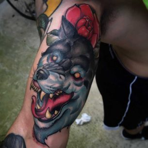 Tattoo of Wolf