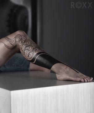 Tattoo on Leg For Female