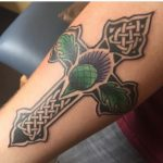 Thistle Tattoo Celtic Cross by Sinead Stewart