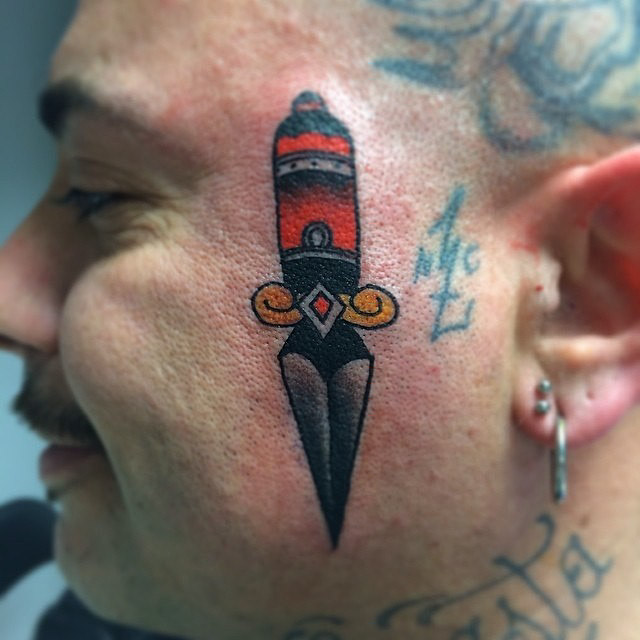 Traditional Face Tattoo by gangstanc17