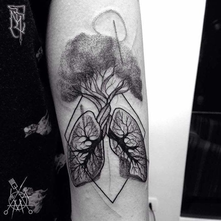 lungs tree tattoo