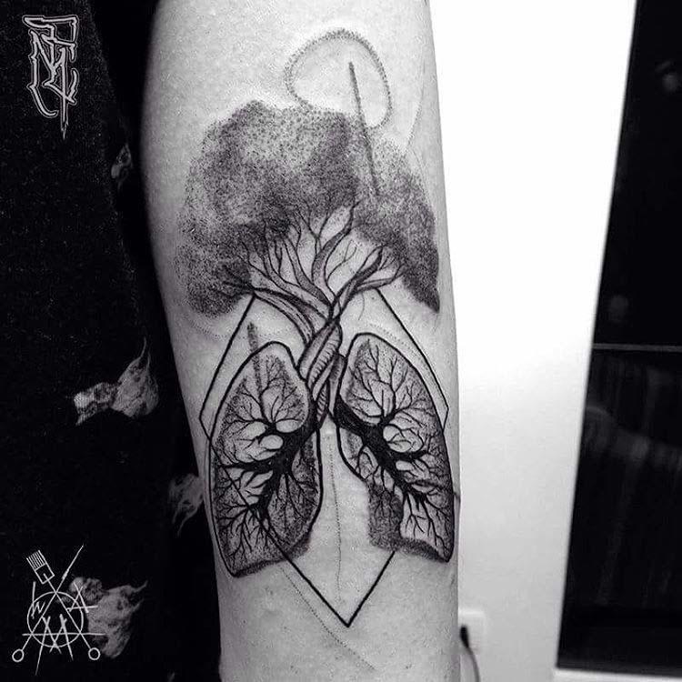 lungs tree tattoo