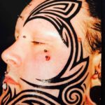 Tribal Face Tattoo by black_wave_tattoo