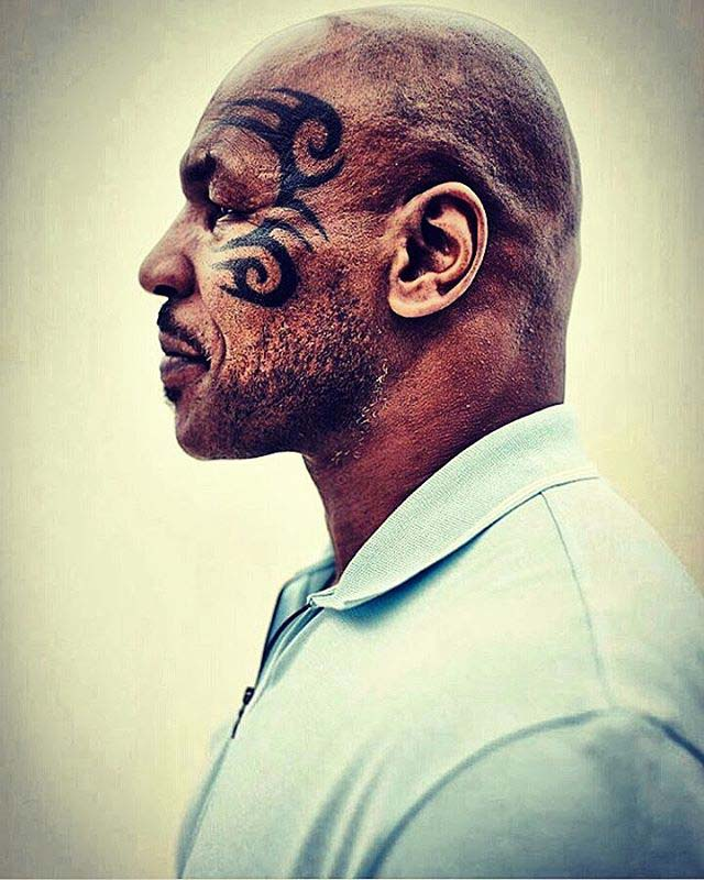 Tyson Face Tattoo
