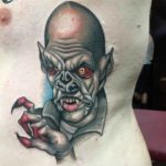 creepy vampire tattoo