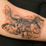 Velociraptor Tattoo Fossil