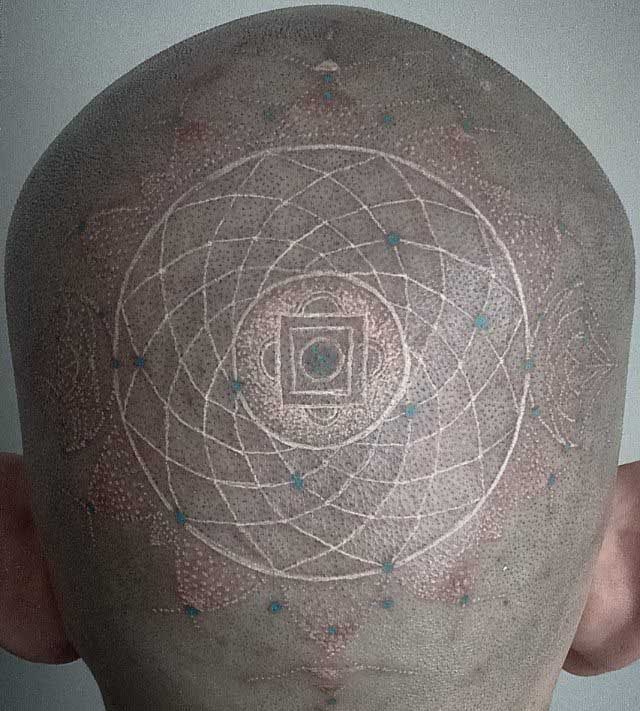 White Head Tattoo by Emy Menendez