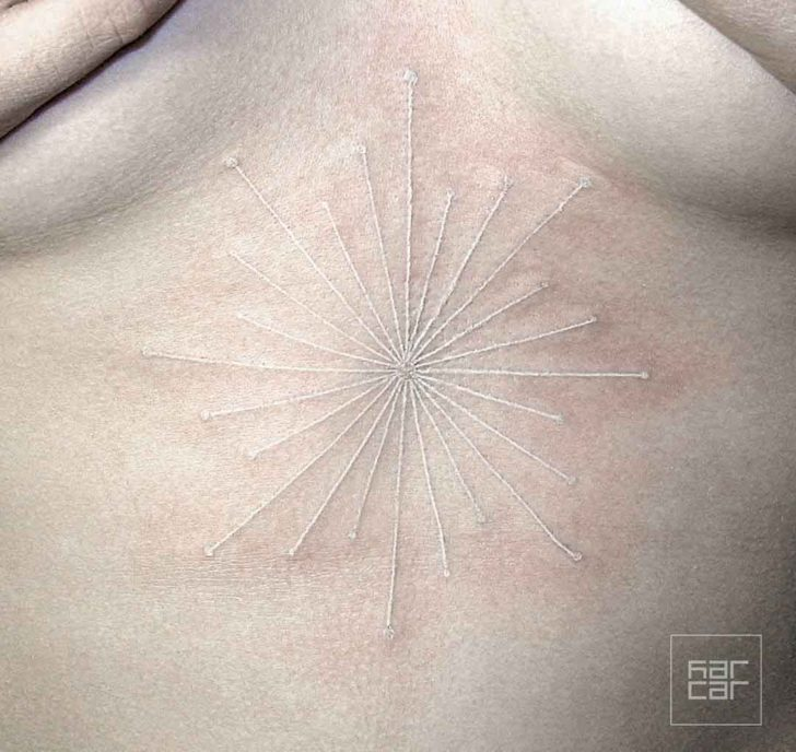 White Lines Tattoo by Caroline Slobodyanik