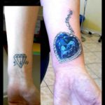 Wrist Cover Up Tattoo Dimond
