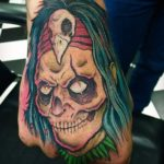 Zombie witch doctor tattoo