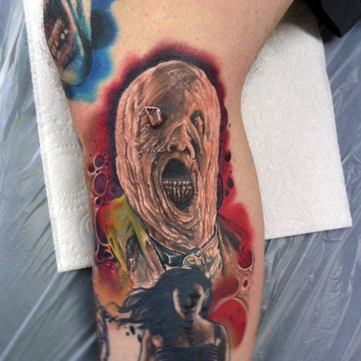 little melting Quentin Tarantino from Planet Terror today by Alan Aldred