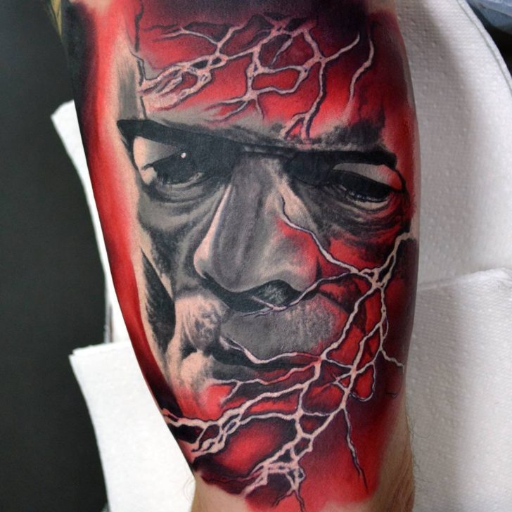 Frankensteins Monster and lightning by Alan Aldred