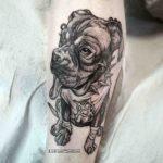 Anarchy Dog Tattoo
