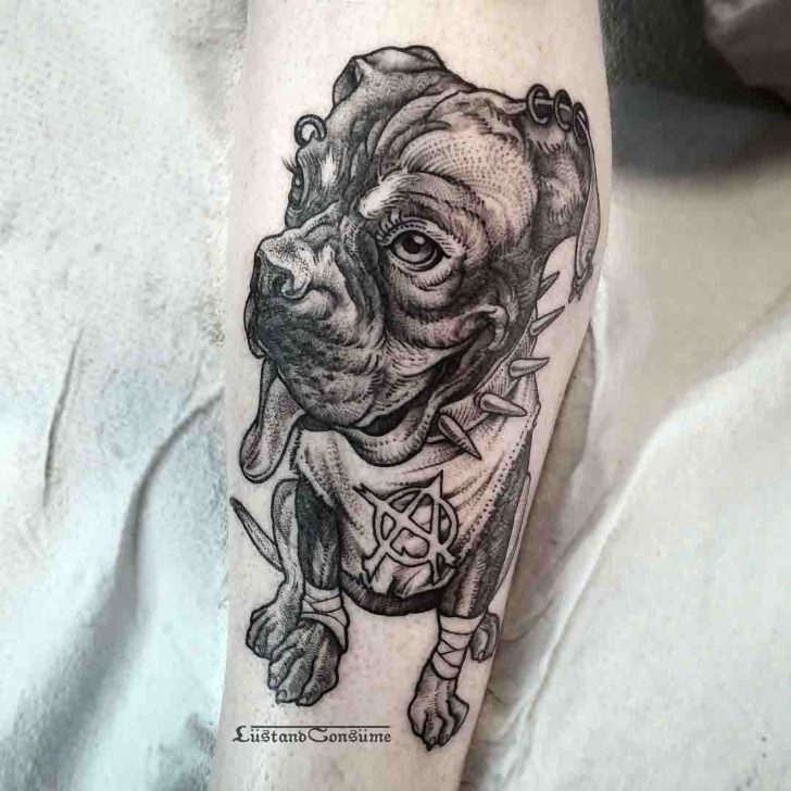 punk dog tattoo