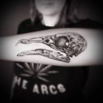 Bird Skull Tattoo on Forearm