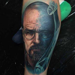 Blue Smoke Walter White Tattoo