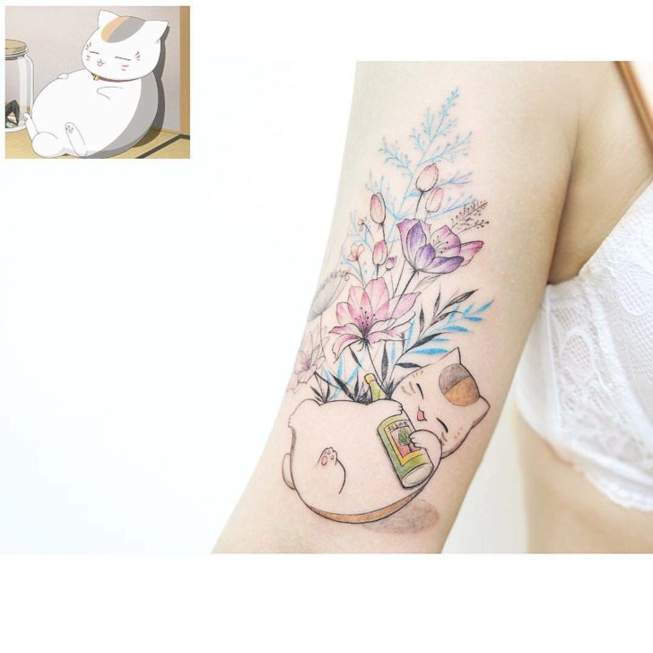 very cute cat tattoo