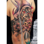 Dark Elf Tattoo on Shoulder