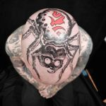Dark Spider Big Head Tattoo