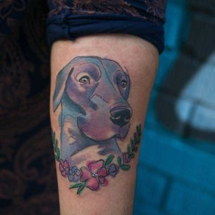 Dog Head Tattoo