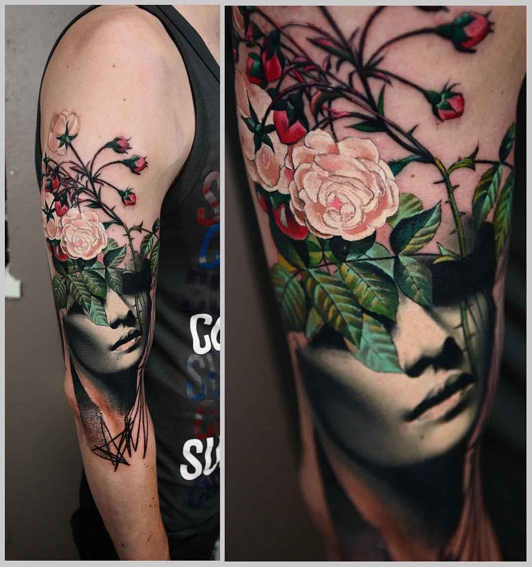 shoulder tattoo artistic