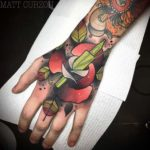 neo-traditional tattoo full hand