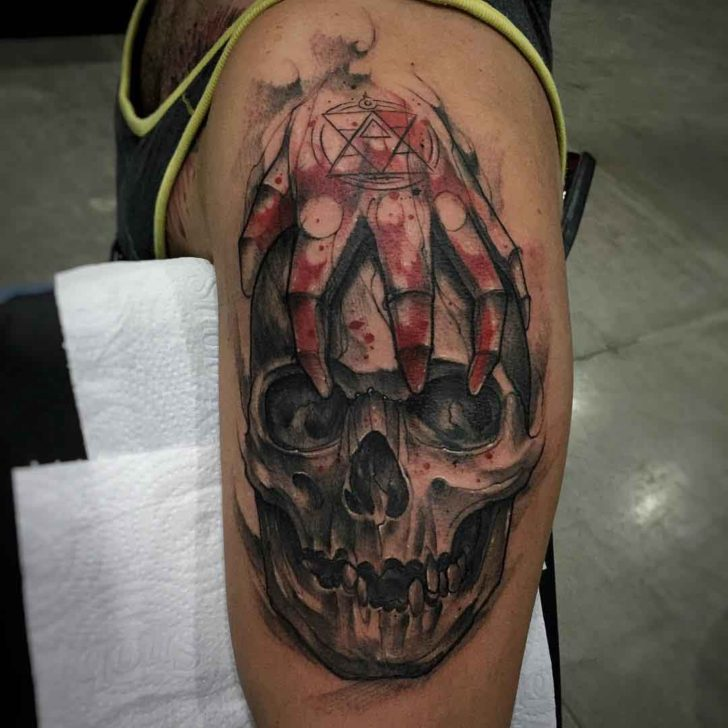 Fullmetal Alchemist Tattoo Skull Best Tattoo Ideas Gallery