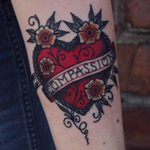 Heart Ribbon Tattoo