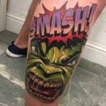 Comic book Hul Tattoo Smash