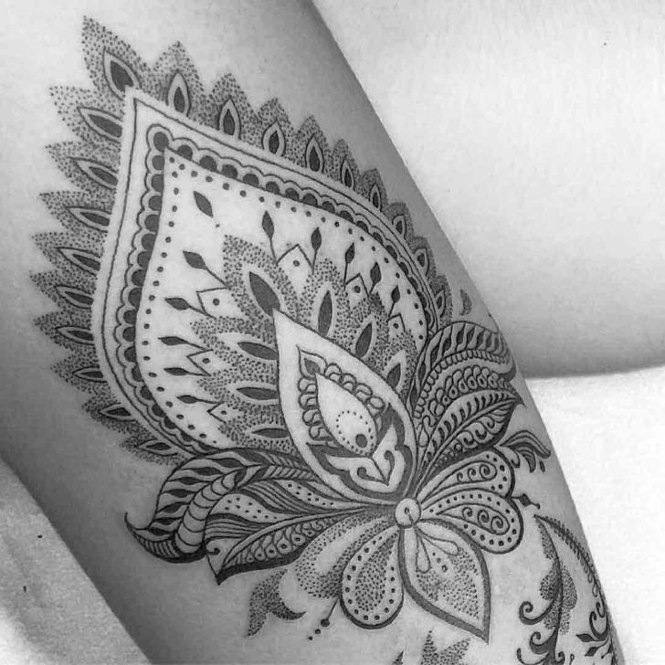 hindu lotus tattoo symbolical