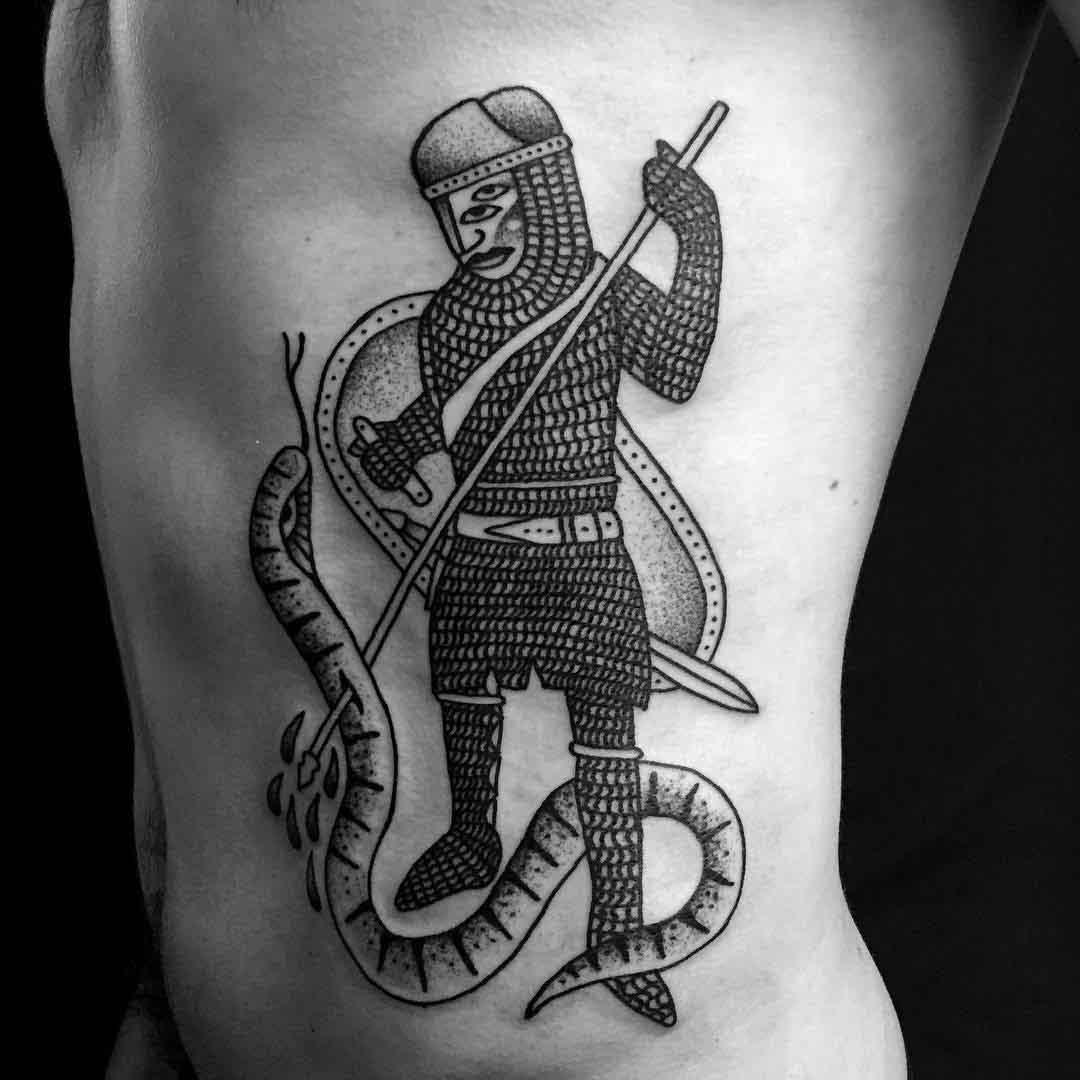 knight tattoo medieval