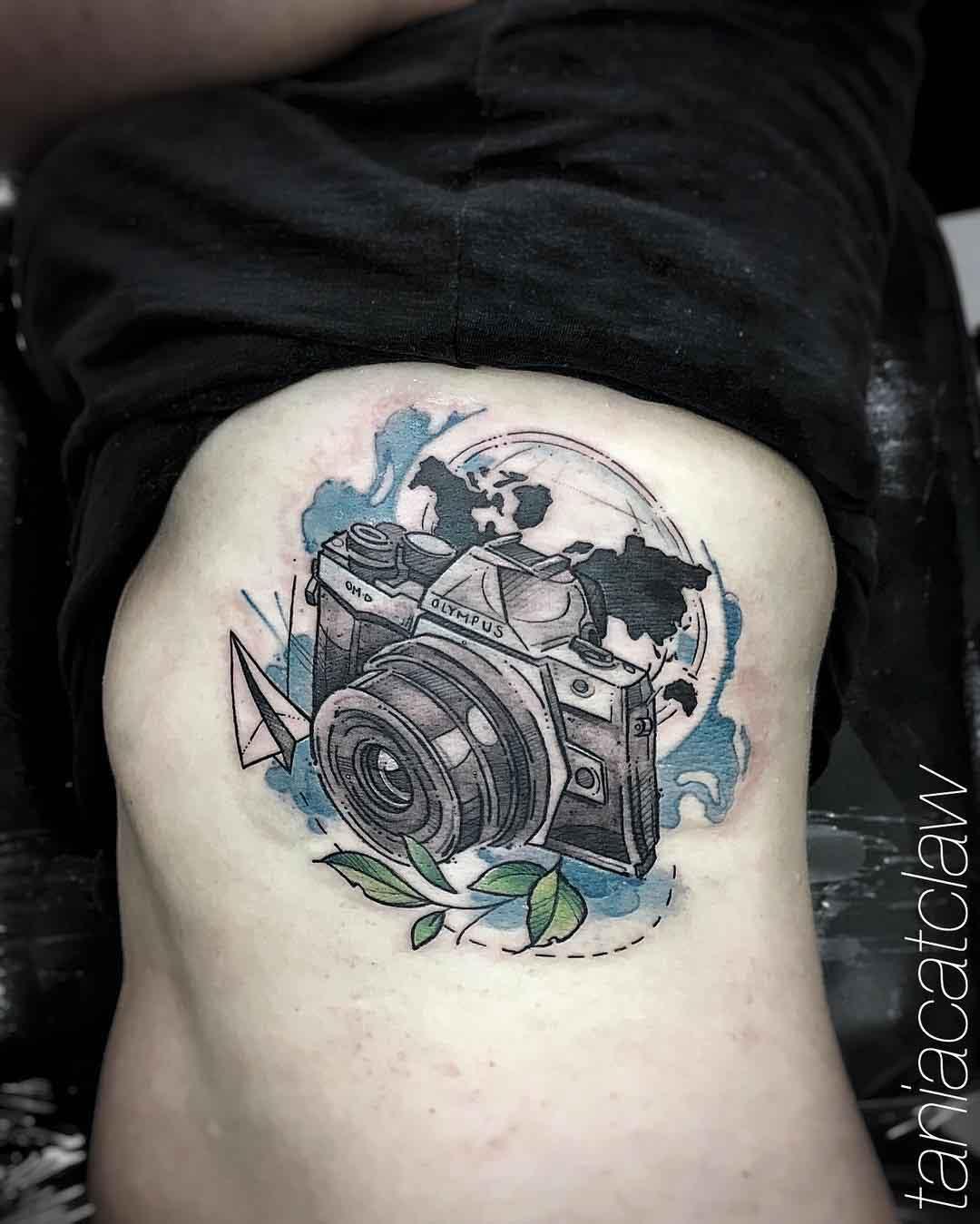 travelling camera tattoo olympus