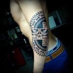 Cool Polynesian Elbow Tattoo