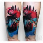 cool rooster tattoo