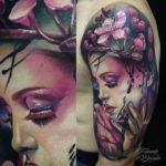 Sakura Girl Tattoo Realism