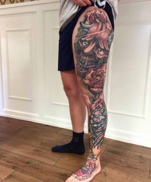 Side Leg Tattoos