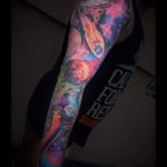 Space Full Sleeve Tattoo