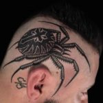 Spider Tattoo on Head Side