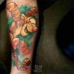 watercolor tigger tattoo