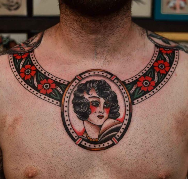 tattoo around neck traditional