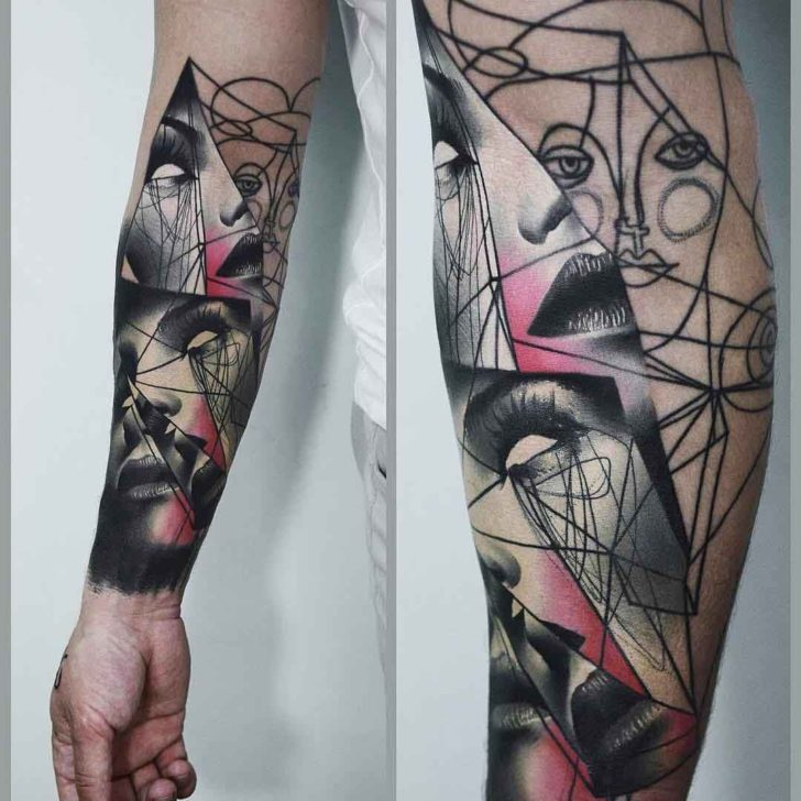 abstract tattoos on arm awesome