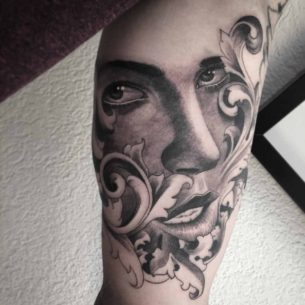Baroque Portrait Tattoo