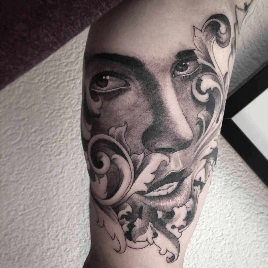 portrait tattoo baroque