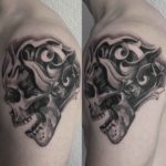 Baroque Skull Tattoo on Shoulder