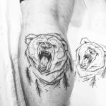 Bear Outline Tattoo