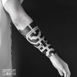Black Arm Tattoo